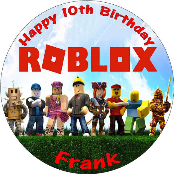 Marvelous Roblox Personalised Round Edible Birthday Cake Topper Funny Birthday Cards Online Sheoxdamsfinfo